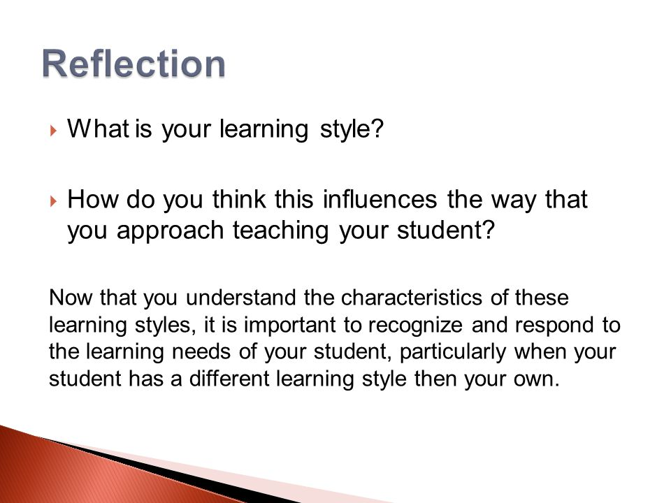  What is your learning style.