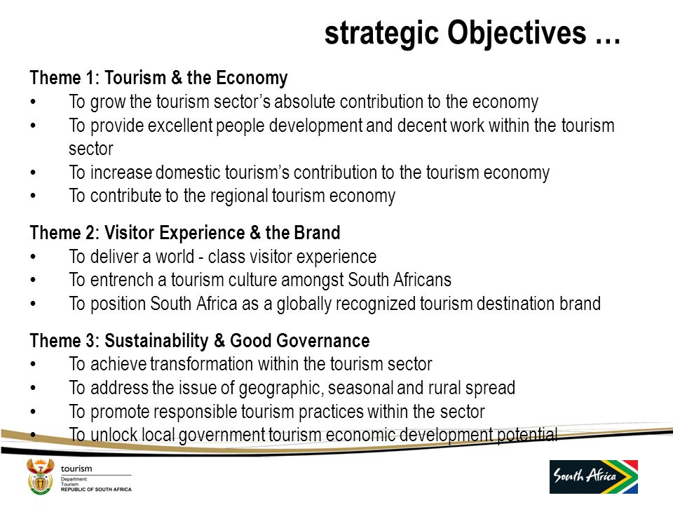 …background - NTSS VISION To be a top 20 tourism destination in the world by 2020 VISION To be a top 20 tourism destination in the world by 2020 THEME