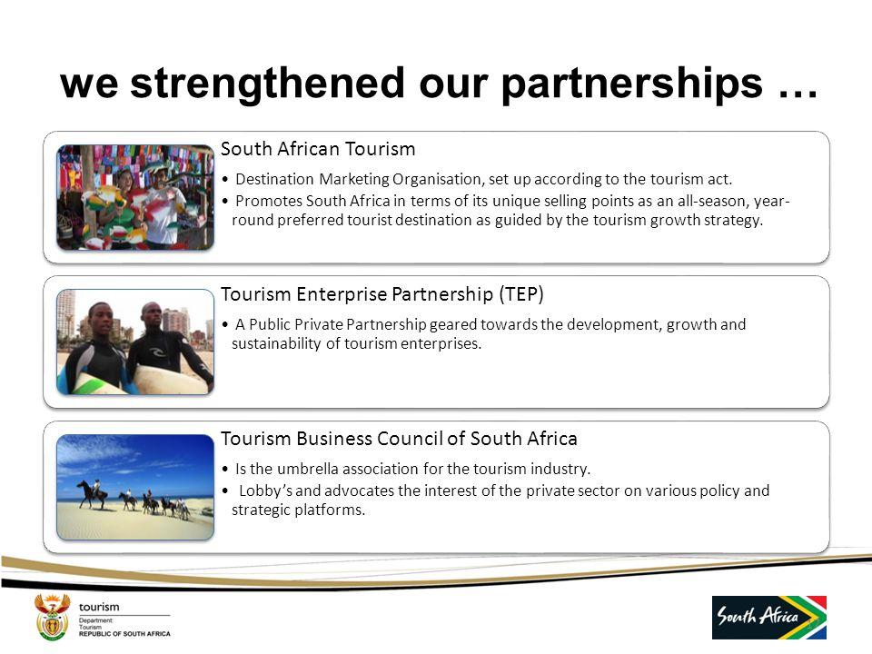 we re-engineered the organisation … 16 jjjjjjjjjjjjjj International Tourism Management Strategic and policy direction for the development of South Afr