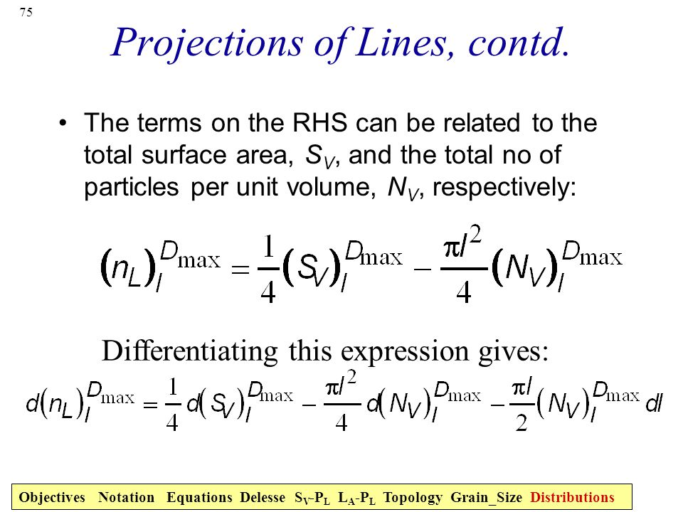 75 Projections of Lines, contd.