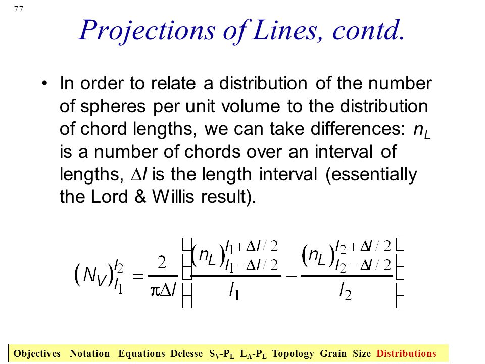 77 Projections of Lines, contd.