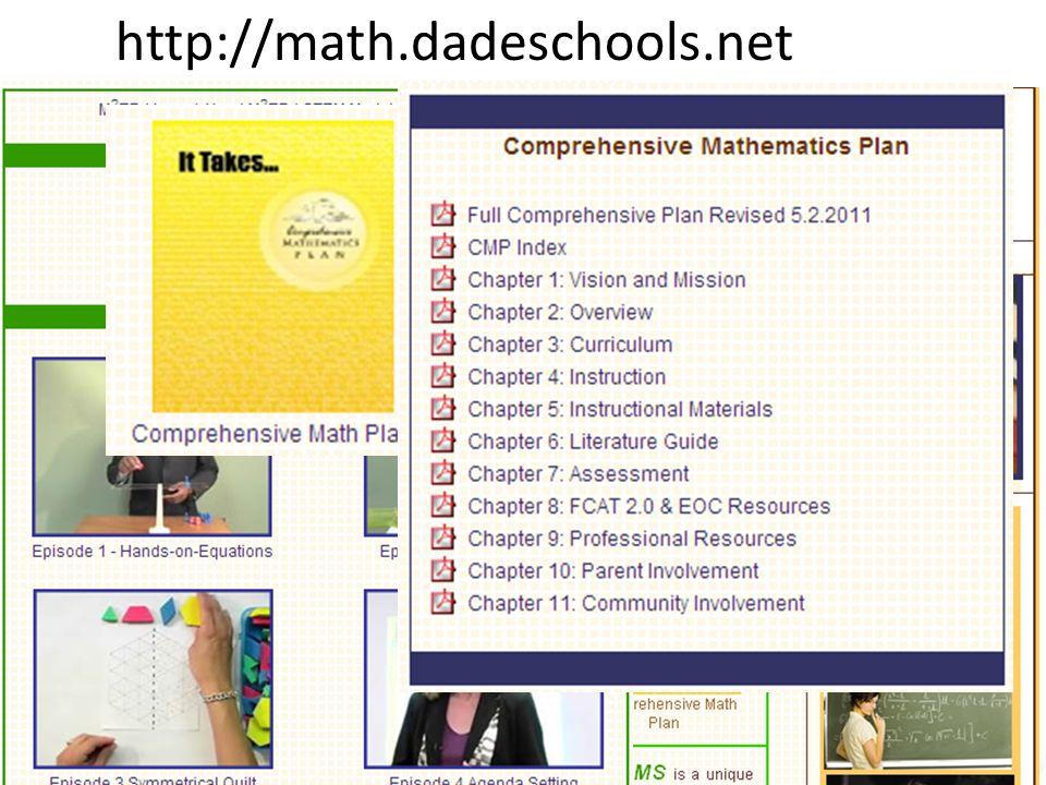 Curriculum and Instruction http://math.dadeschools.net