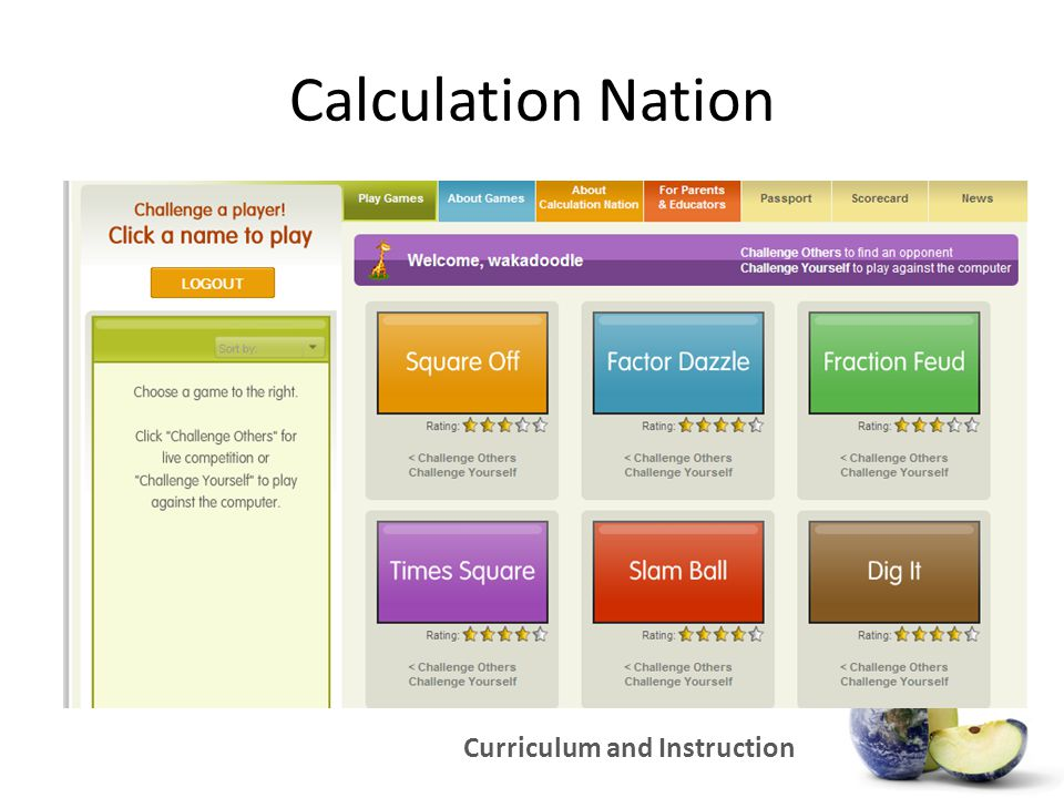 Curriculum and Instruction Calculation Nation