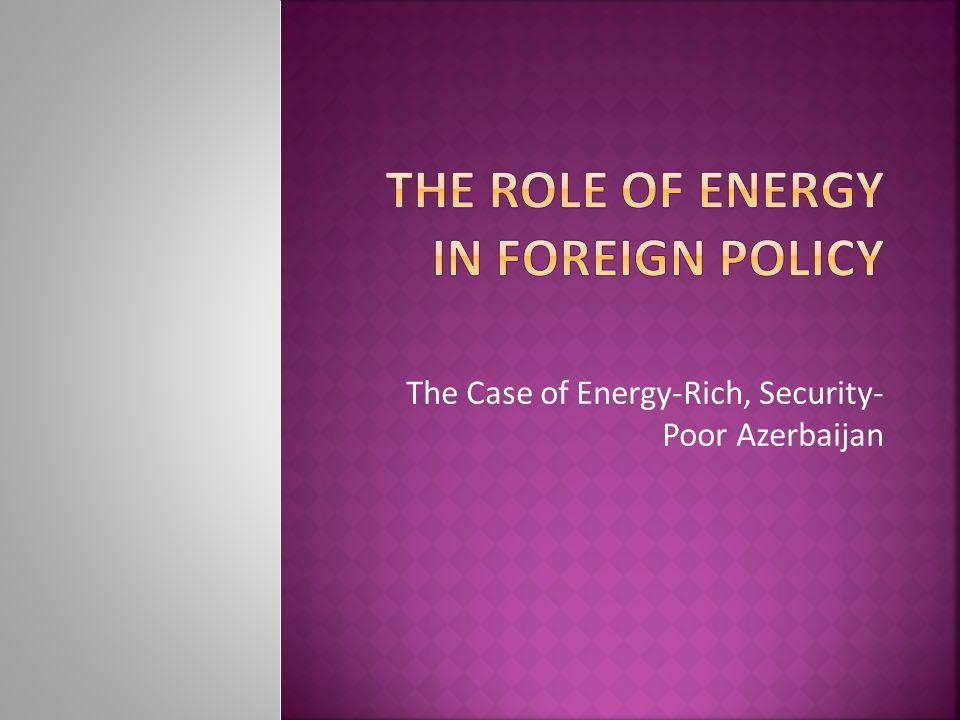 The Case of Energy-Rich, Security- Poor Azerbaijan