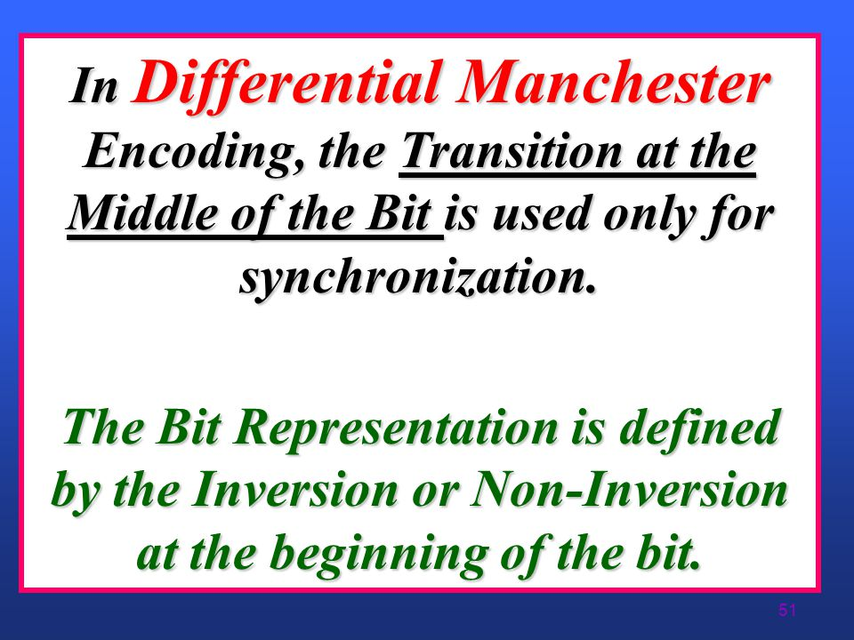 50 Differential Manchester Encoding (Polar)