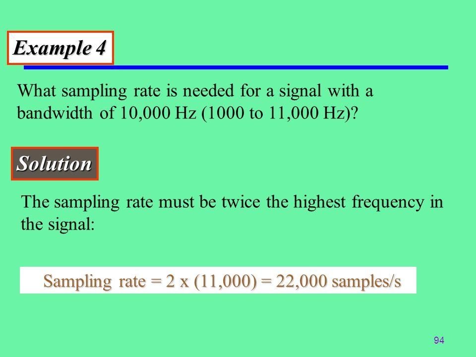 93 Bit Rate Practice Want To Digitize Human Voice Using Eight Bit Samples. Sampling Rate = __________ Samples/Second Bit Rate = __________ Kbps Human