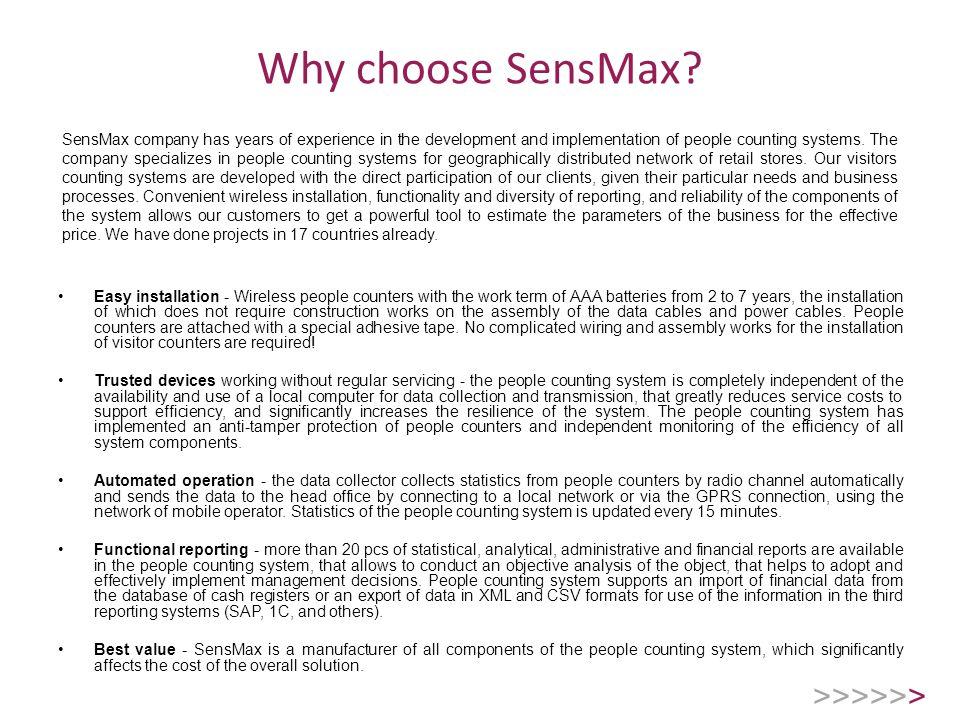 Why choose SensMax.