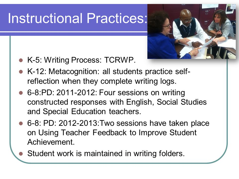Instructional Practices: K-5: Writing Process: TCRWP.