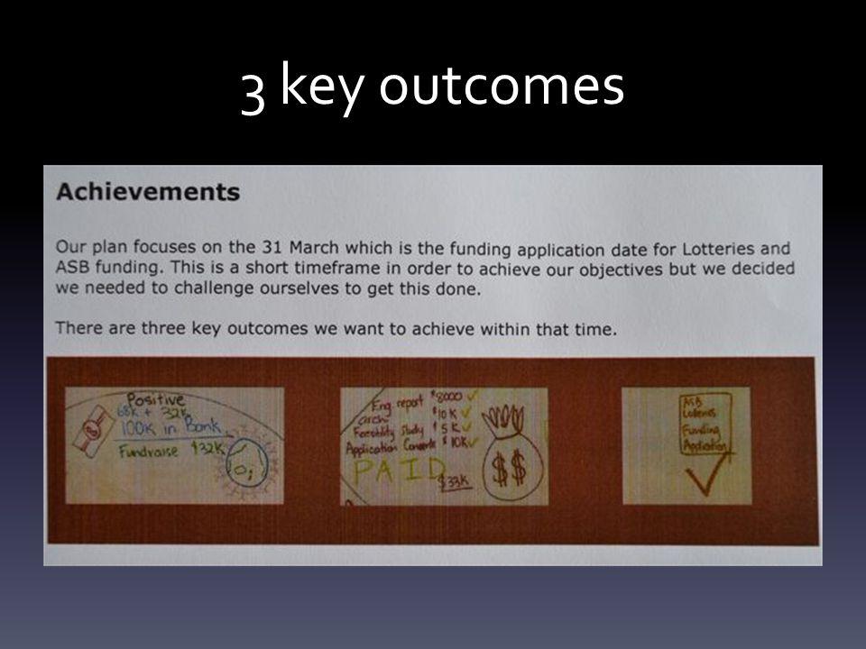 3 key outcomes