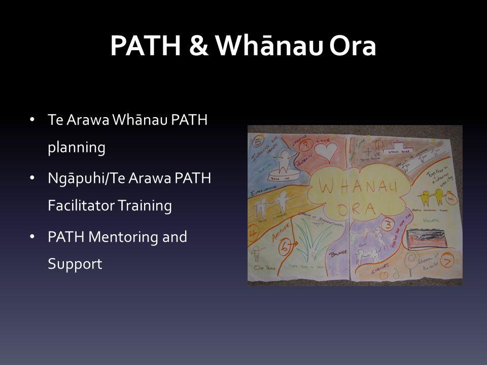 PATH & Whānau Ora Te Arawa Whānau PATH planning Ngāpuhi/Te Arawa PATH Facilitator Training PATH Mentoring and Support