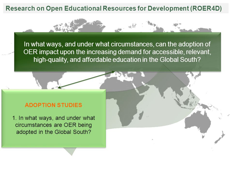 In what ways, and under what circumstances, can the adoption of OER impact upon the increasing demand for accessible, relevant, high-quality, and affordable education in the Global South.