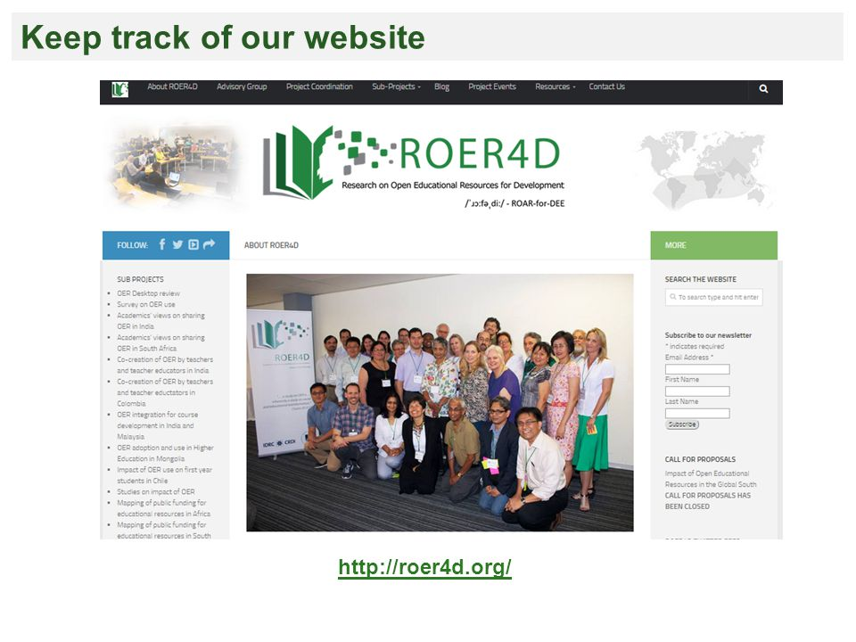 http://roer4d.org/ Keep track of our website