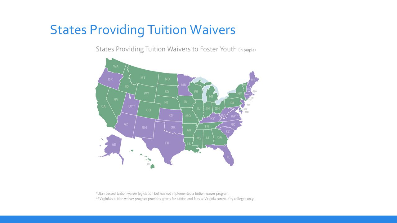 States Providing Tuition Waivers