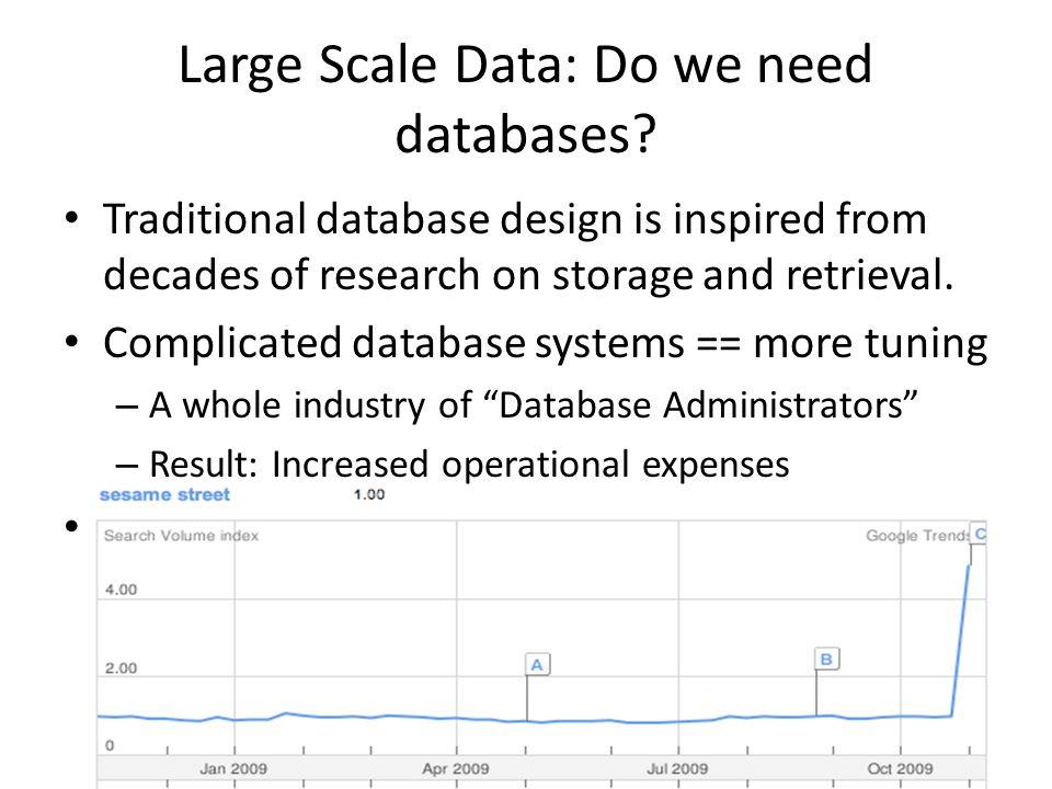 Large Scale Data: Do we need databases.