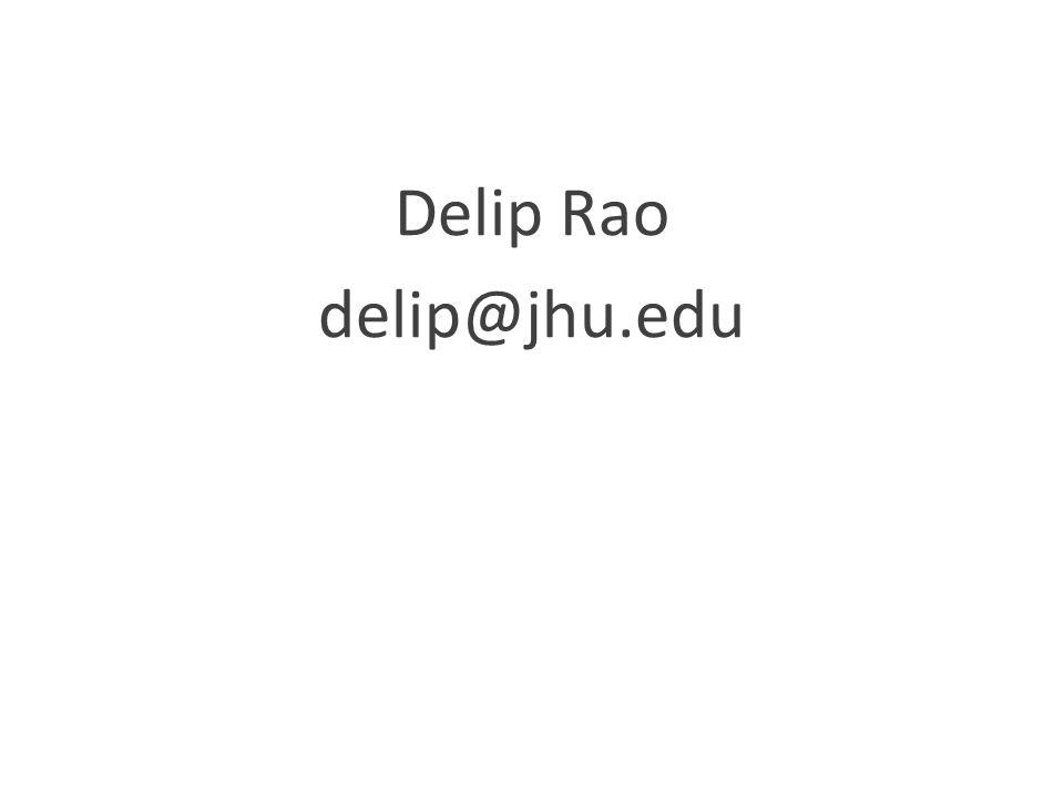 Delip Rao delip@jhu.edu