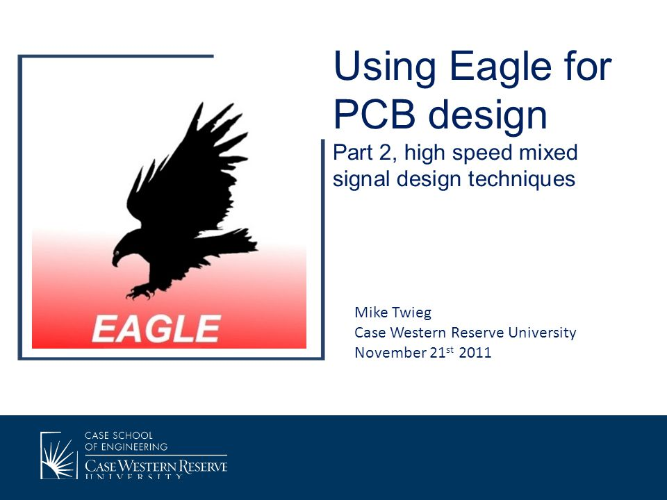 Overview Wrap up from part 1: Exporting design files from Eagle, and submitting files for manufacturing Recommendations on SMT packages High speed signal propagation Mixed signal layout design 4 layer design techniques