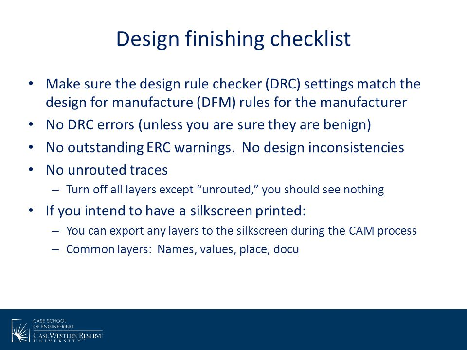 Using the DFM checker After submitting, you should receive an automated analysis from freeDFM.com, which includes two things of importance: Plots layer review, which shows you PDF images of each layer Any DFM errors found.