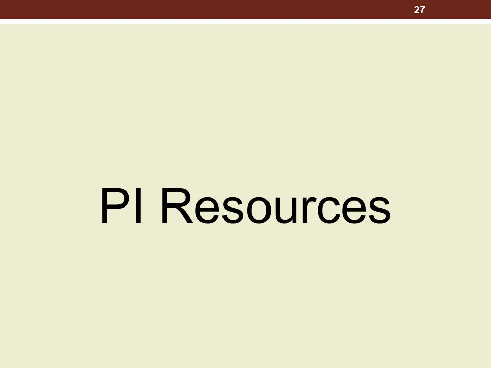 PI Resources 27