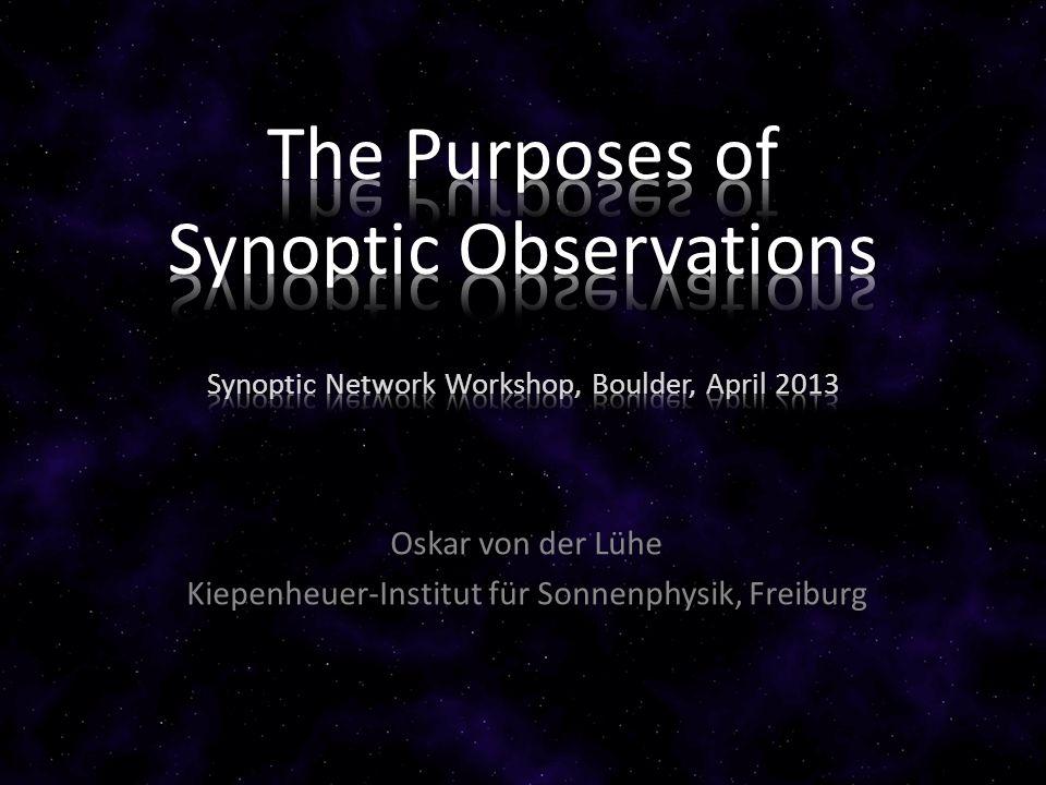 Oskar von der Lühe Kiepenheuer-Institut für Sonnenphysik, Freiburg