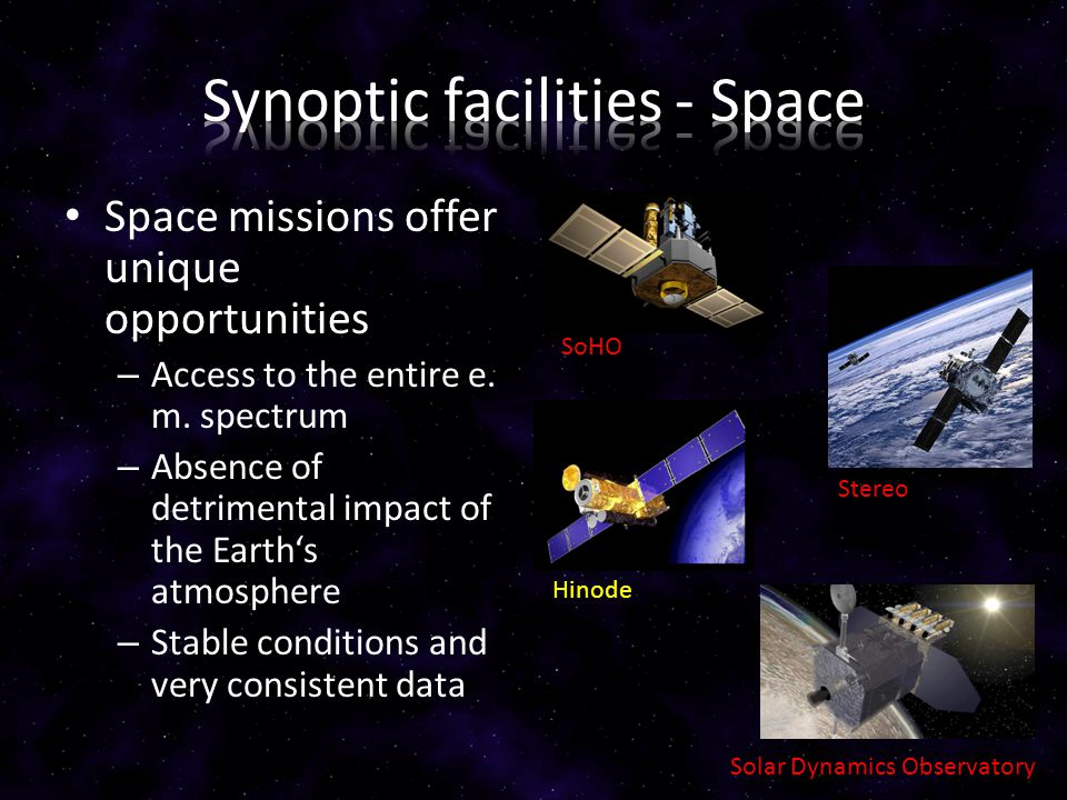 Space missions offer unique opportunities – Access to the entire e.