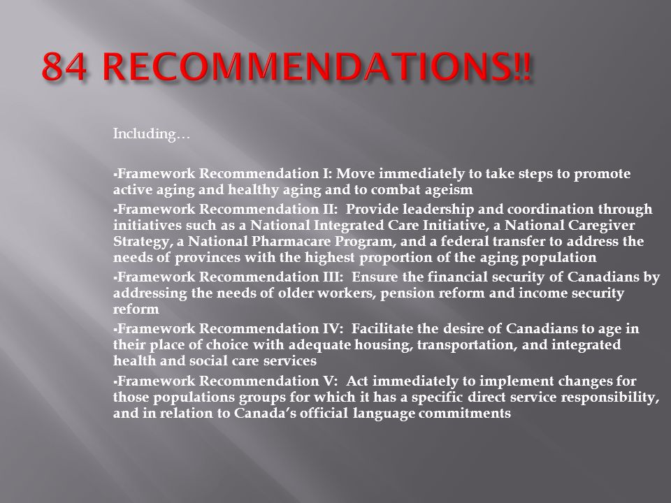 84 RECOMMENDATIONS!.
