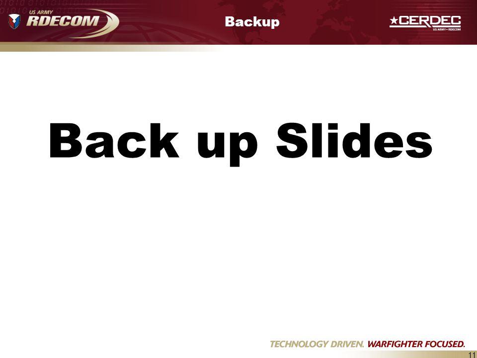 11 Backup Back up Slides