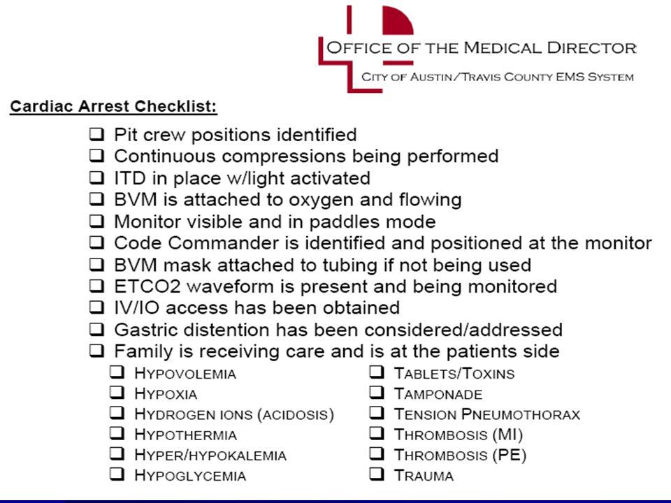 ©2010 Paul R. Hinchey Need cpr checklist
