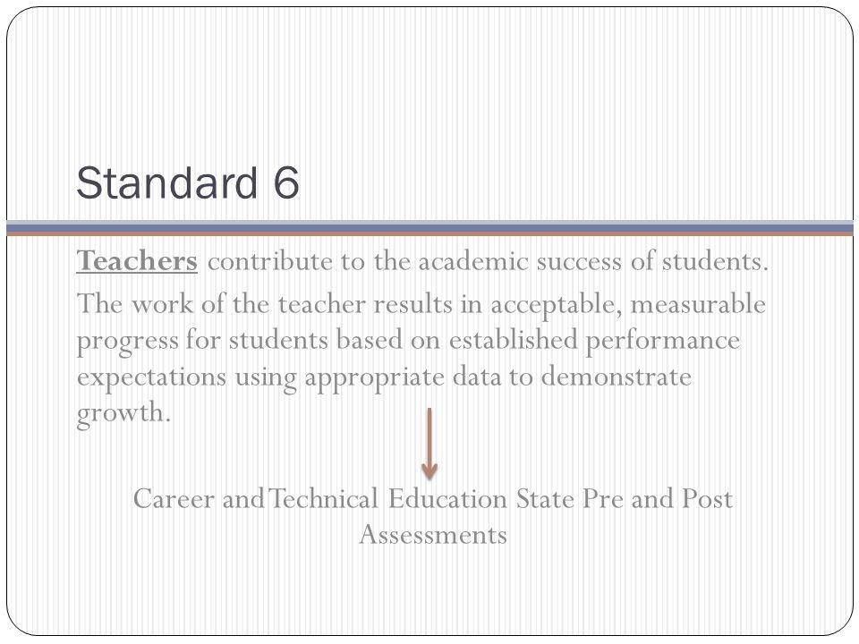 Standard 6 Teachers contribute to the academic success of students.