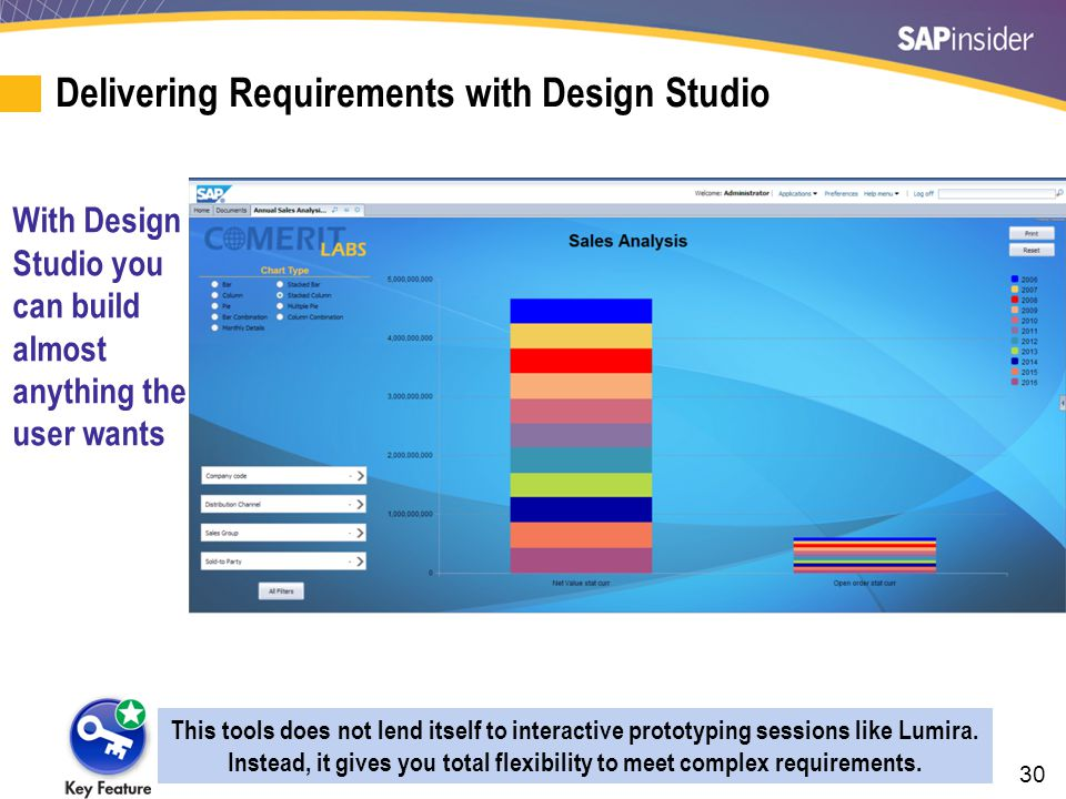 30 Delivering Requirements with Design Studio With Design Studio you can build almost anything the user wants This tools does not lend itself to inter