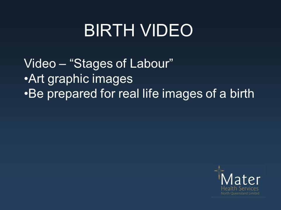 """BIRTH VIDEO Video – """"Stages of Labour"""" Art graphic images Be prepared for real life images of a birth"""
