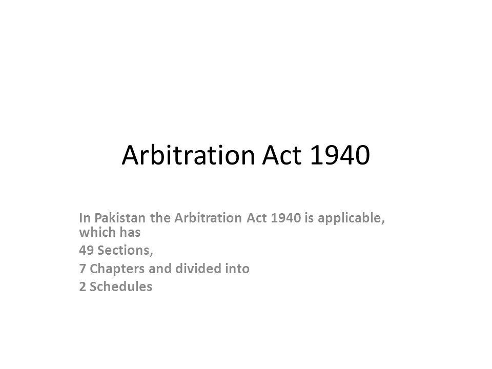 Arbitration …….