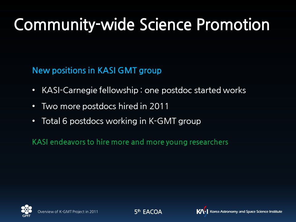 13 KASI endeavors to hire more and more young researchers