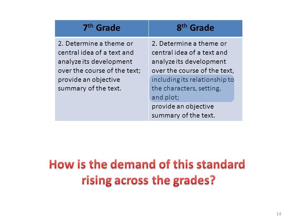 7 th Grade8 th Grade 2.