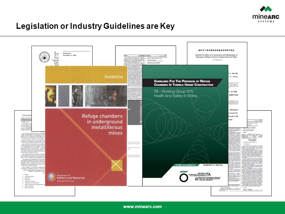 www.minearc.com Legislation or Industry Guidelines are Key