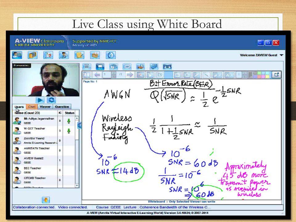 Live Class using White Board