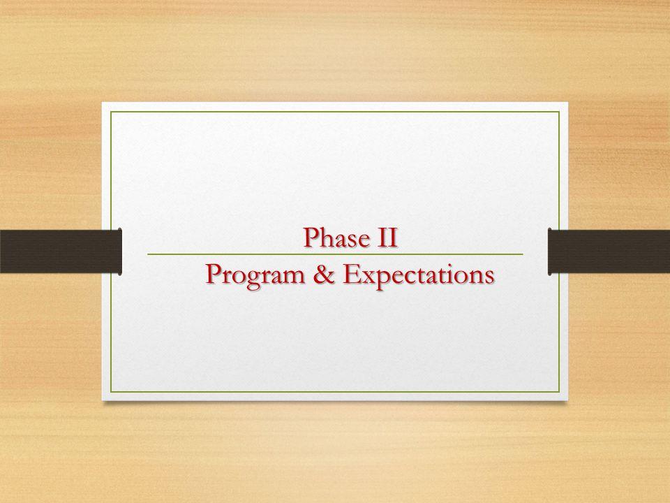 Phase II Program & Expectations