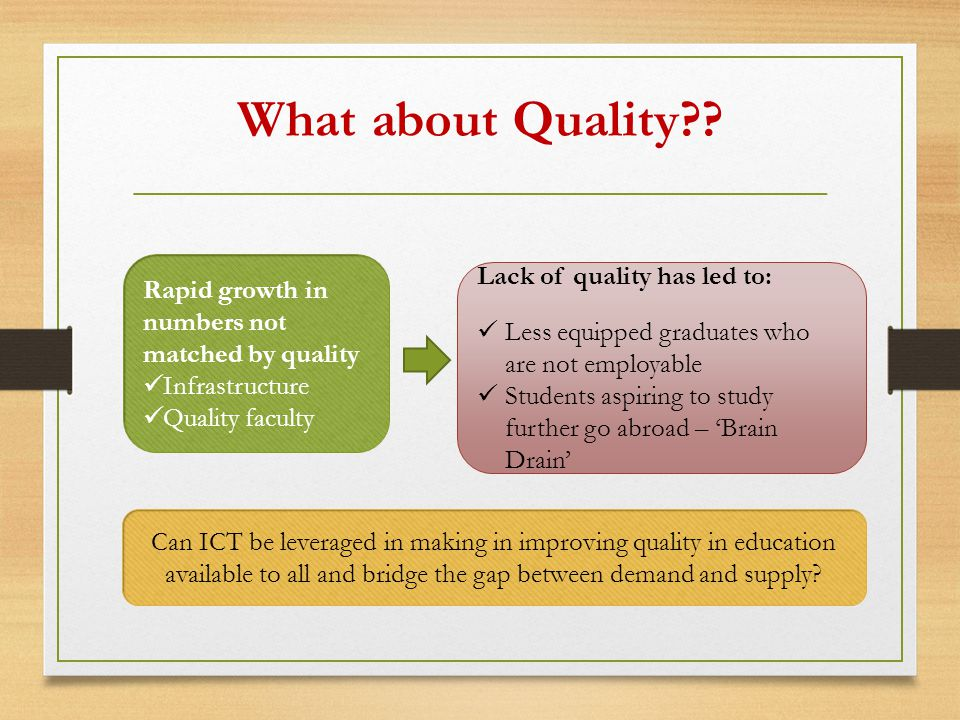 What about Quality .