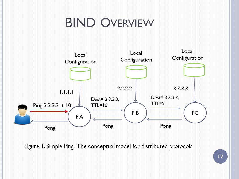 BIND O VERVIEW 12 Figure 1. Simple Ping: The conceptual model for distributed protocols