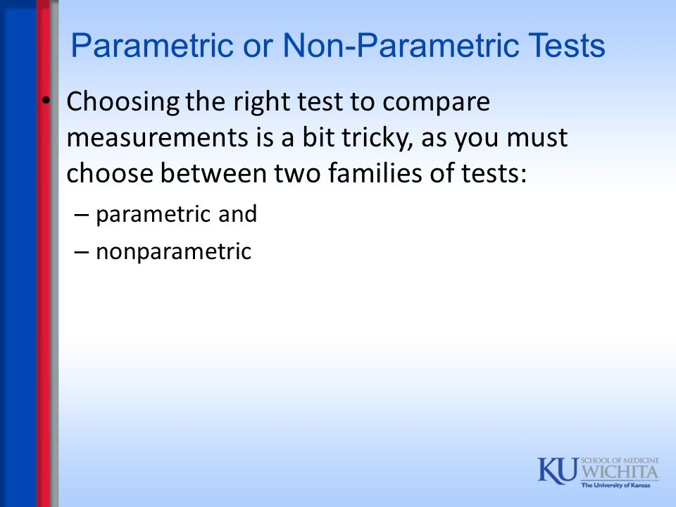 Related Sample Cases Sign test – tests whether the numbers of differences (+ve or – ve) between two samples are approximately the same.