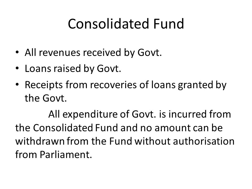 Contingency Fund Occasions may arise when Govt.