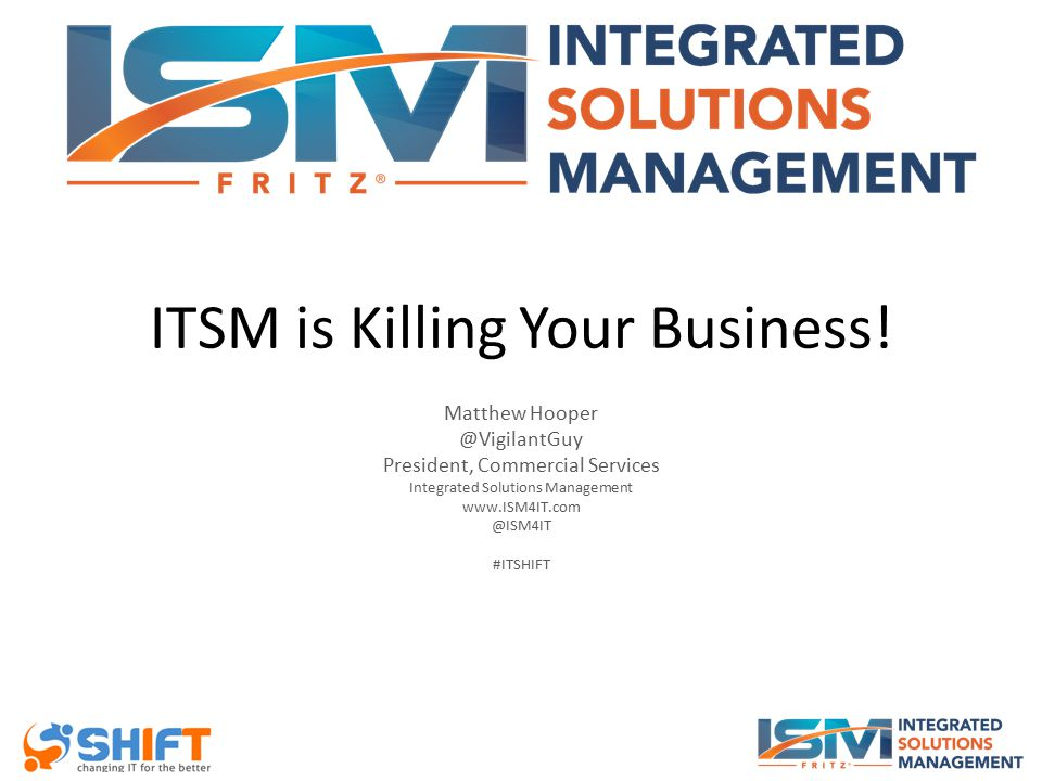 ITSM is Killing Your Business.