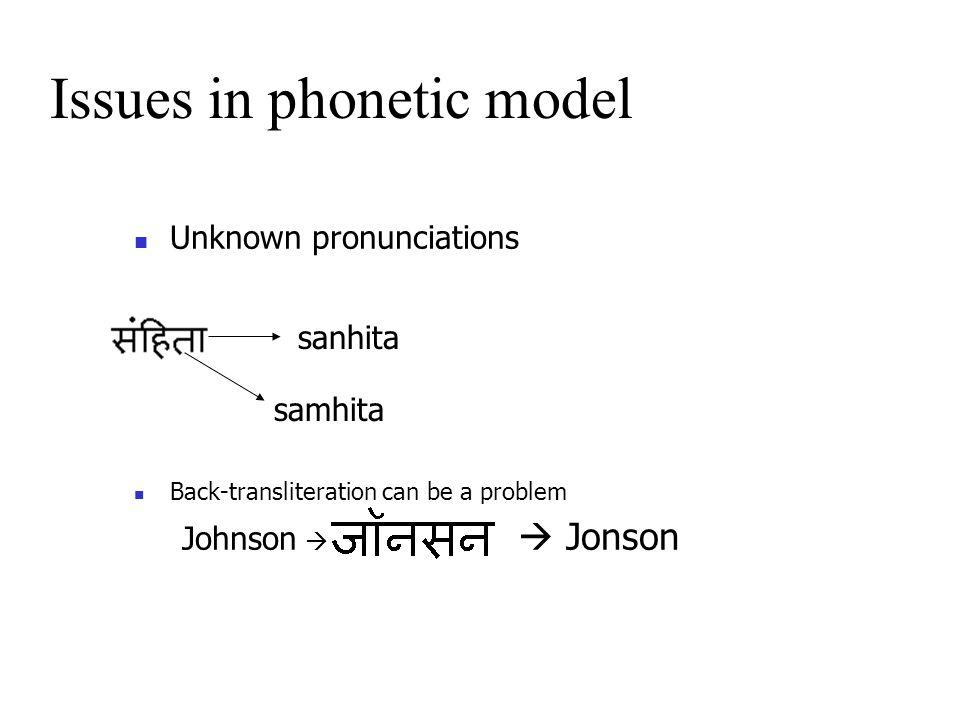 Back to Phonetics
