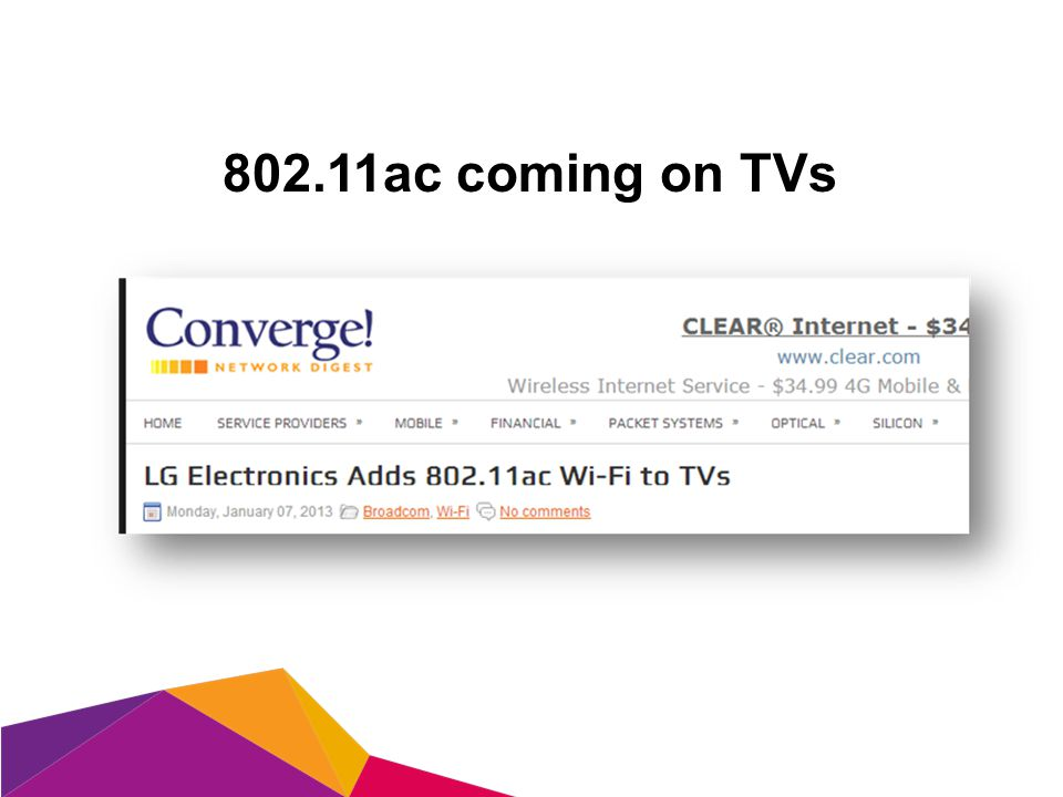 802.11ac coming on TVs