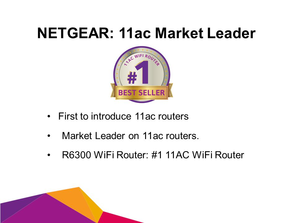 First to introduce 11ac routers Market Leader on 11ac routers.