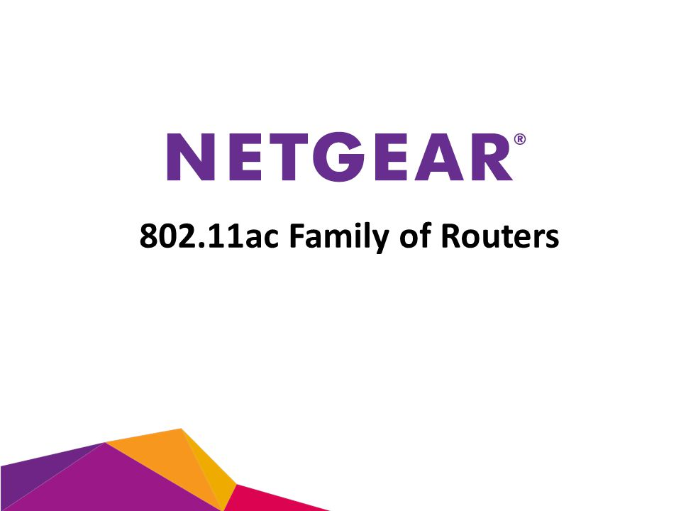 802.11ac Family of Routers
