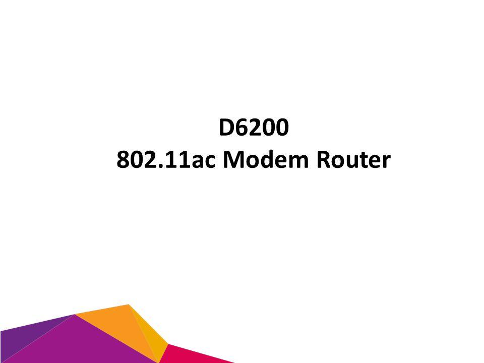D6200 802.11ac Modem Router