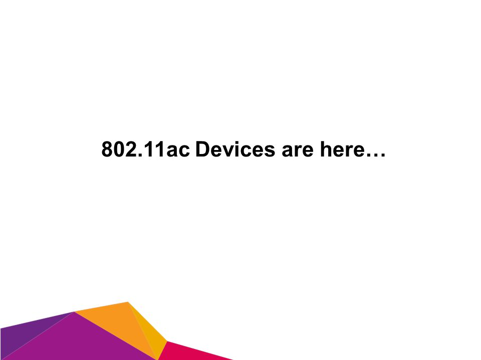 802.11ac Devices are here…
