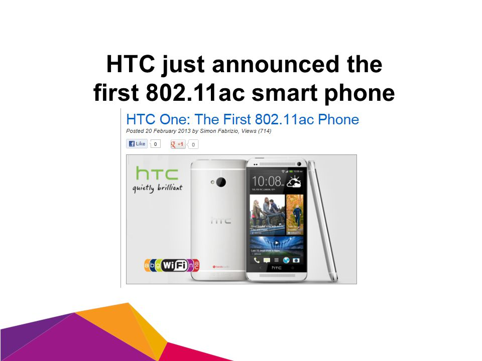 HTC just announced the first 802.11ac smart phone