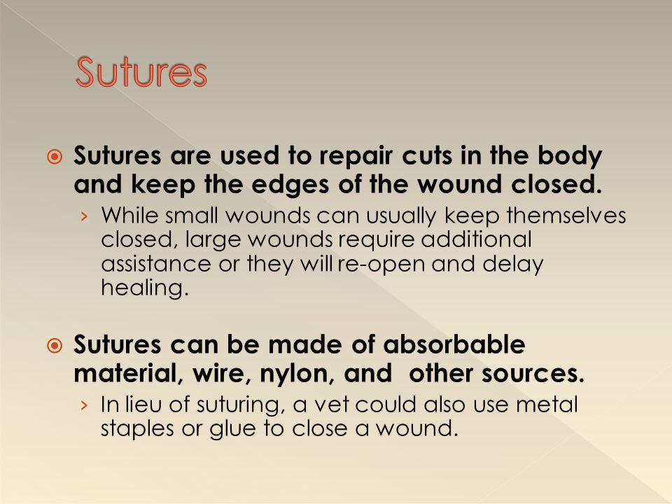Continuous Sutures Non-continuous Sutures Purse-String Suture