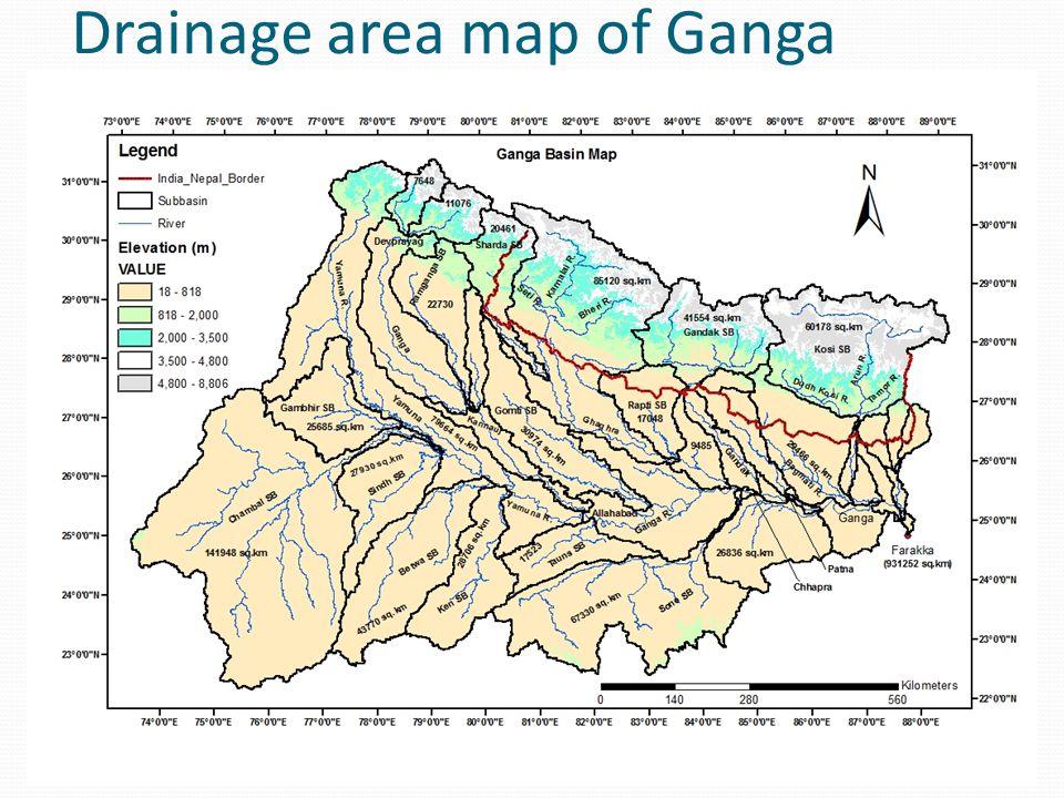 Rainfall scenario in Ganga basin